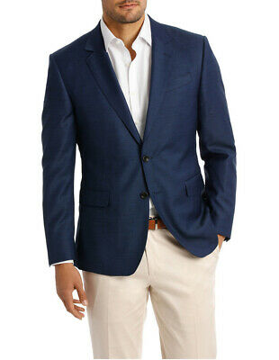 NEW Jeff Banks Two Tone Pinpoint Performance Stretch Suit Jacket K386021 Navy
