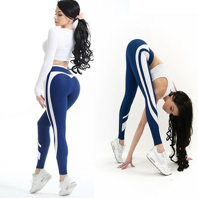 Women Yoga Workout Gym Leggings Fitness Running Sports Pants Stretch Trouser New