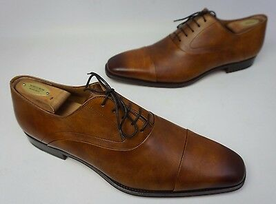 84338a0b76b Magnanni Saffron Cap Toe Oxford Shoes Cuero Brown Leather Men s Lace-Up  Size 13