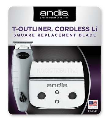 Andis Cordless Outliner #04545 SQUARE Trimmer Blade Set ORL Replacement #74000