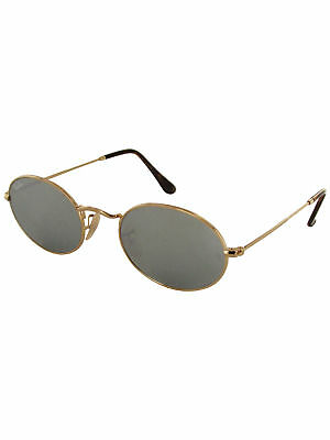 2738dc5ab0 RAY BAN OVAL Flat Lenses Sunglasses RB3547N 00193 48 Gold Yellow ...