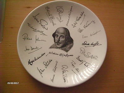 Holkham Plate. Shakespeare Exhibition Signature Plate. 1564 ~ 1964.