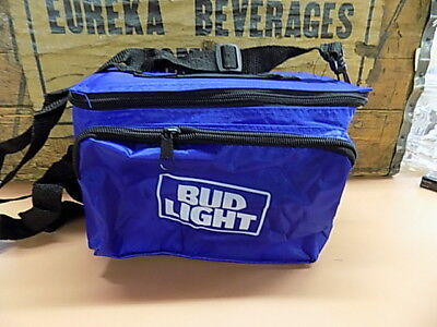 "Bud Light Insulated 6-Pack Cooler with Bottle Opener 9"" x 6"" 5-1/2"" FREE SHIPPIN"