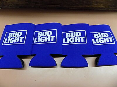 4 New BUD LIGHT Koozie Coozie Coolie 12oz CANS Free Ship