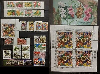 Singapore Stamps 1998 9 sets Year of Tiger MS Australia Joint issue  + block MNH