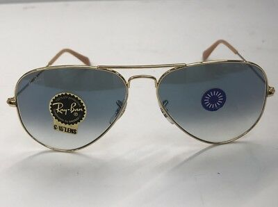 a7e13a8a626c5 Ray-Ban Cool Aviator Light Blue Gradient Lens Gold Frame RB3025 001 3F 58