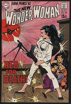 Wonder Woman #189 One Of The Great Covers! Vf 8.0 Glossy Copy Wuth White Pages
