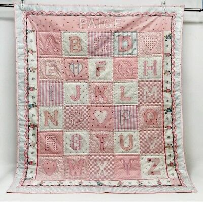 Daisy Kingdom Handmade Baby Blanket Quilt Applique Name On It Is Paige