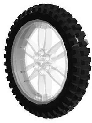 Lego Technic X Large Trans Clear Wheel Black Tire Motorcycle