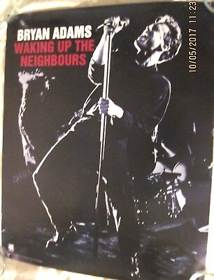 """Rare Vintage Bryan Adams """"waking Up The Neighbours"""" Promo Poster (Vg-Excellent)"""