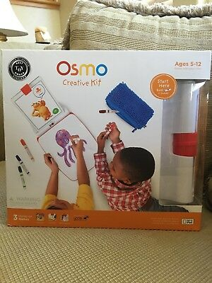 Osmo CREATIVE KIT with Monster, Newton, Masterpiece Games (iPad Base Included)