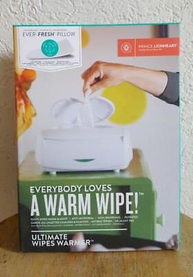 Baby Wipe Warmer Glow Infant Diaper Flip Top Lid Warm Moist Anti-Microbial