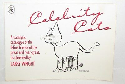 Celebrity Cats by Larry Wright, cartoon book 1982