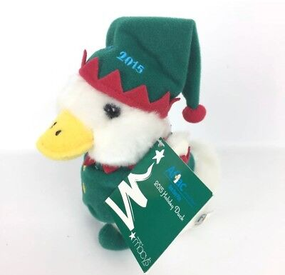 Macy's Talking AFLAC Duck Christmas Elf NWT Advertising Plush Stuffed Toy