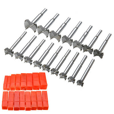 16X 15-35mm Forstner Woodworking Drill Bit Set Boring Hole Saw Cutter Wood Tools