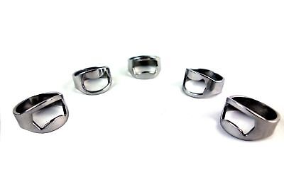 NEW 5pcs Stainless Steel Finger Ring Bottle Opener Bar Beer tool Colors Silver