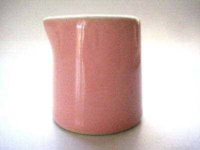 "Hall Pink Diner Restaurant Ware 2"" Individual Syrup or Creamer Pitcher Ceramic"