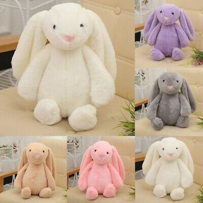 Cute Bunny Soft Plush Rabbit Stuffed Animal Toy Appease Baby Bed Pillow Toy Kids