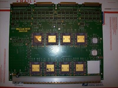 Lot of Vintage Ceramic CPU 's Mounted to Circuit Board, For Scrap Gold Recovery
