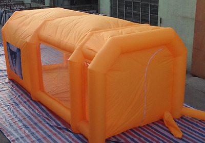 custom made 9mL x 6mW x 4mH portable oxford cloth inflatable spray paint booth