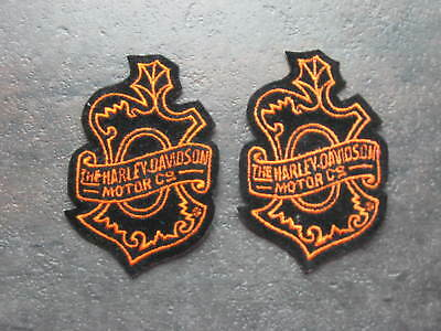 HARLEY DAVIDSON MOTOR CO. 2-Shielded Crest Patches 2.5X2.. *Free Shipping*