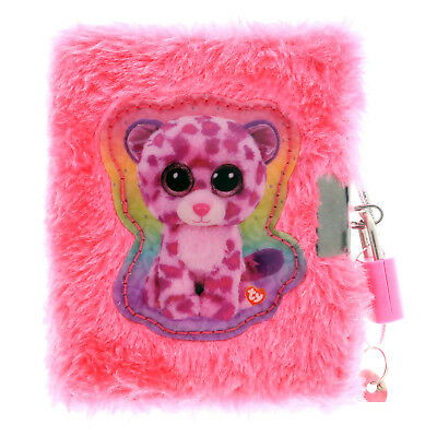 TY Beanie Boos Plush Diary with Lock and Fuzzy Pen Girls Notebook Journal Gift