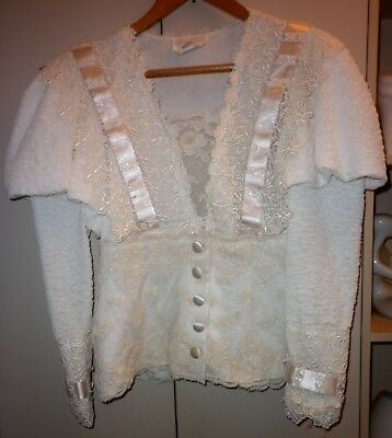 Vintage Victorian Style Ladies Jacket Size 12 Good Condition
