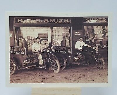 Harley Davidson Motorcycle Post Card  6 x 4.25 Store Front