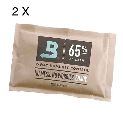 2 Packs BOVEDA 65% RH (60 GRAM) - INDIVIDUALLY OVER-WRAPPED