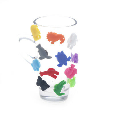 Animal Suction Cup Wine Glass Silicone Label Wine Glasses Recognizer Marker US