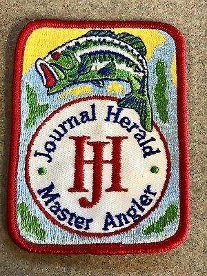 Vintage 1975 Dayton Journal Herald Newspaper Bass Master Angler Fisherman Patch