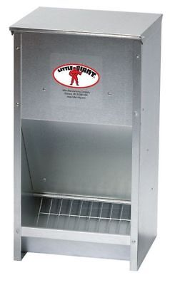 Miller Chicken Self Feeder 171267 Galvanized High Capacity Poultry Feeder -