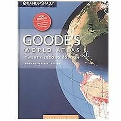 Goodes Atlas 22nd Hardcover (Goode's World Atlas) by Rand McNally