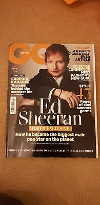 British Gq Mens Magazine World Exclusive Ed Sheeran Aa Gill  March 2017