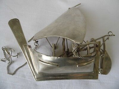 Vintage sterling silver ship boat