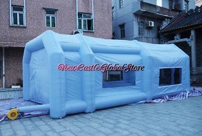 custom made portable inflatable 27ft by 16ft by 10ft  oxford paint spray booth