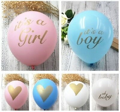 20pcs Latex Balloons its a girl/oh boy /baby Printed Birthday Baby Shower Decor