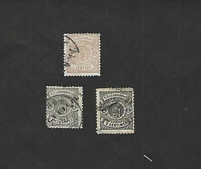 LUXEMBOURG sc#29 #30x2 (1875-8) USED