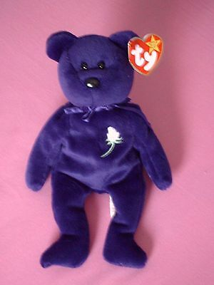"TY ""Princess"" Lady Diana,English Rose,gewidmet `97 , Beanie Baby, NEU"