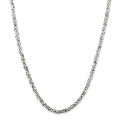 Sterling Silver Fancy Byzantine Necklace QH1076
