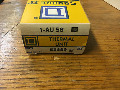 Square D Au56 New In Box Thermal Overload Heater See Pics #a63