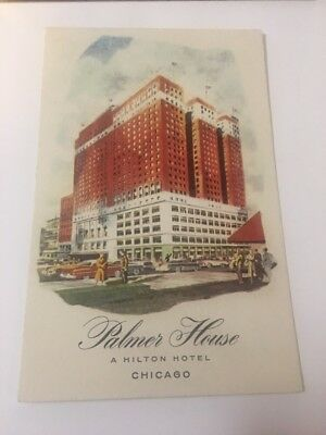 Vintage Postcard Unposted Vertical Palmer House Hotel Chicago IL