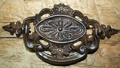 4 Cast Iron Antique Victorian Style OVAL Drawer Pull, Barn Handle, Door Handles