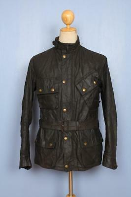 Stunning RARE Vtg 1940s BARBOUR International Suit 'White Label' Waxed Jacket