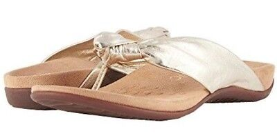 689579f984ce New Women Vionic Rest Pippa Champagne Gold Sandals Orthaheel Leather  Authentic