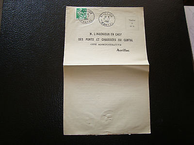 FRANCE - document 31/7/1961 (cantal) (cy76) french