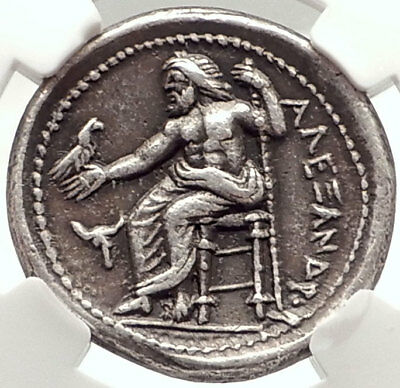 ALEXANDER III the GREAT Lifetime 336BC TETRADRACHm Silver Greek Coin NGC i69565