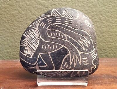 "Authentic rare Ica's Stone ""Dinosaurs"", very old, Peru"
