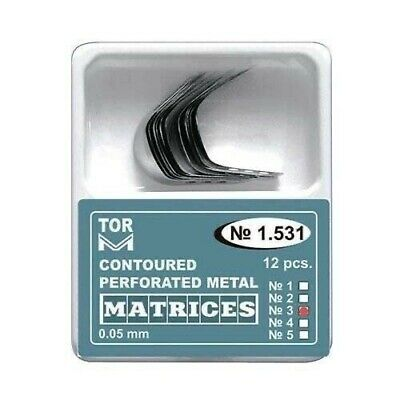 12 Metal Contoured Perforated Matrices Matrix (5 different shapes) TOR VM 1.531