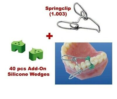 Springclip + 40 Elastic Wedges Dental Sectional Contoured Matrices Matrix TOR VM